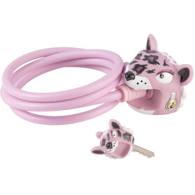 Crazy Safety Leopard Cykellås 120/8 pink